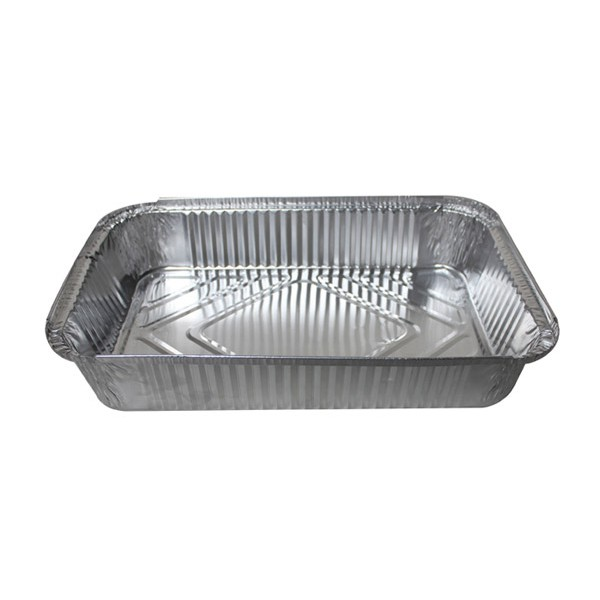 Aluminum rectangular food container, 3000 ml - package of 5 food packages