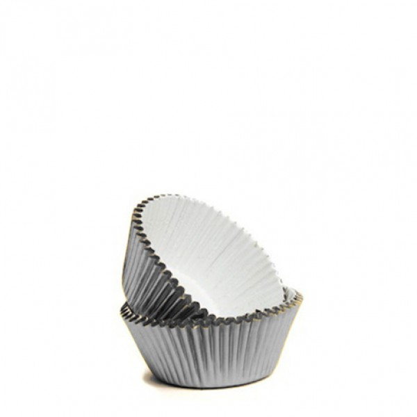 72 Silver Foil Mini Baking Cups