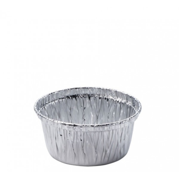 Aluminum foil round food container, 150 cc - package of 10 food packages