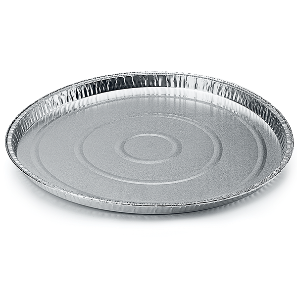 Aluminum foil round food container for Pizza - package of 5 food packages