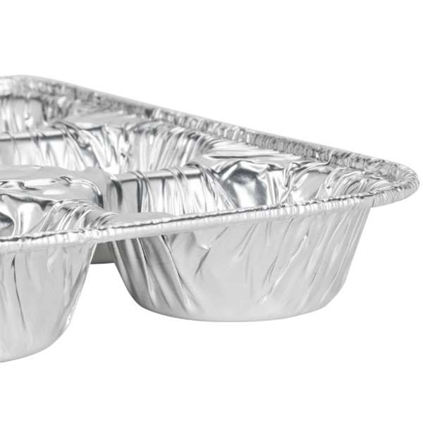 Aluminum foil mini muffins pans, 4 molds - package of 4 muffin containers