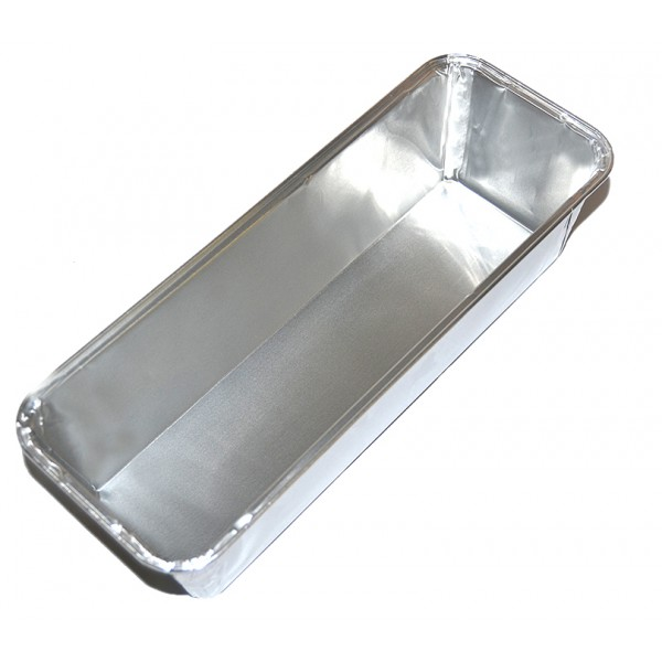 Aluminum rectangular food container, 2270 ml - package of 10 food packages