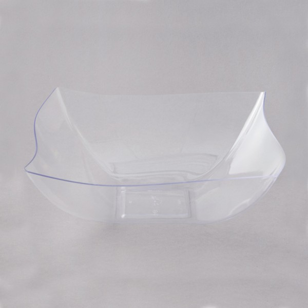 Plastic wave salad bowls, 7 - package of 1 salad bowl