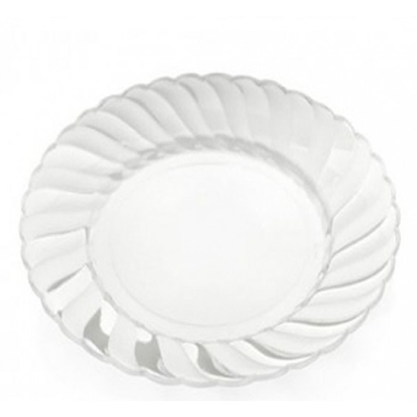 Large transparent plastic plates 9 - package of 18 plates  sc 1 st  Disposables & Buy Large transparent plastic plates 9