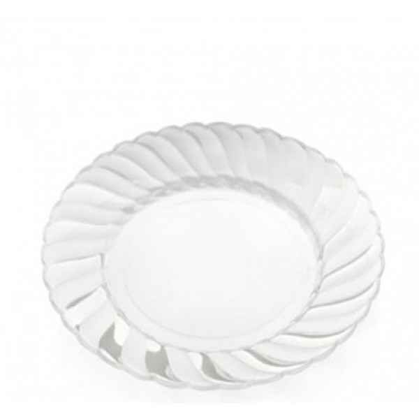 Transparent plastic plates, 7 - package of 18 plates