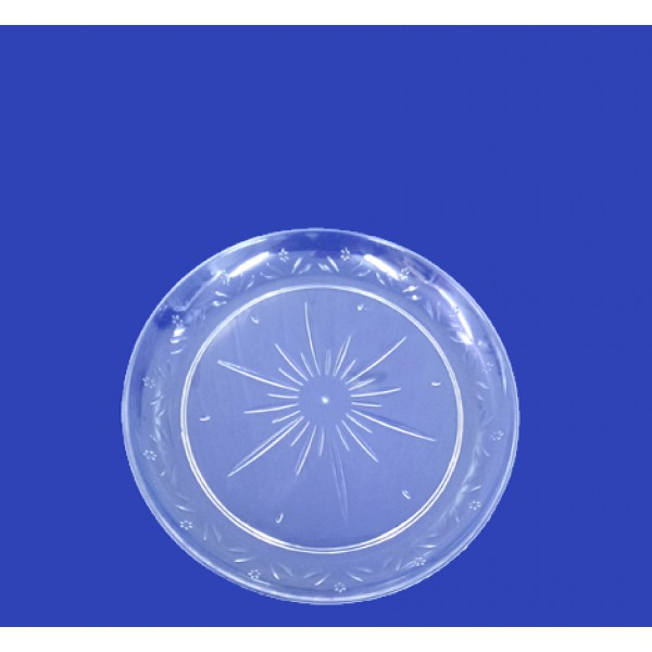 Transparent plastic plates, 7 - package of 20 plates