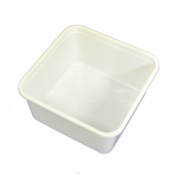 White plastic ice cream container, 2000 ml - package of 10 food packages
