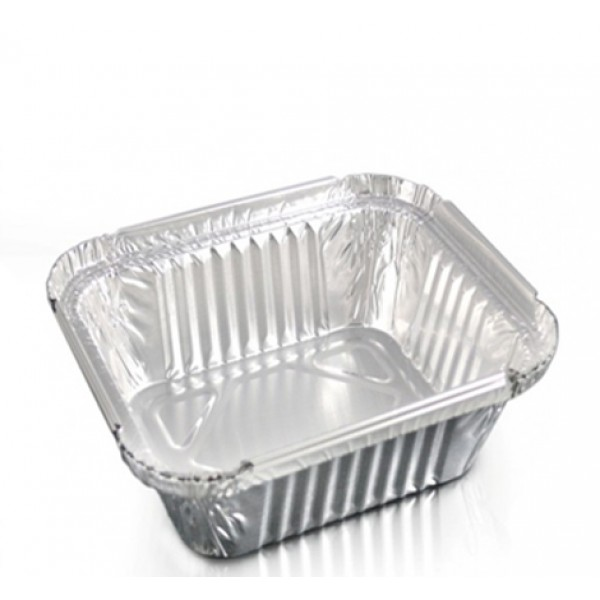 Aluminum rectangular food container, 450 ml - package of 10 food packages