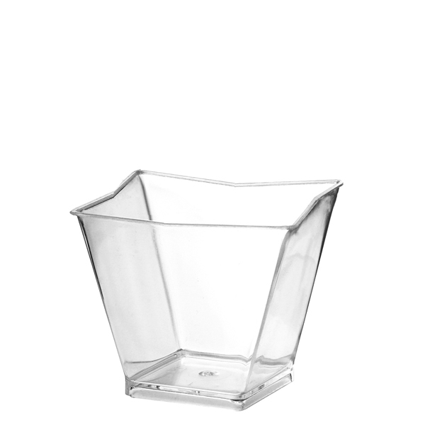 Crystal Clear Square Mini Cup, 60 ml - pack of 24 cups