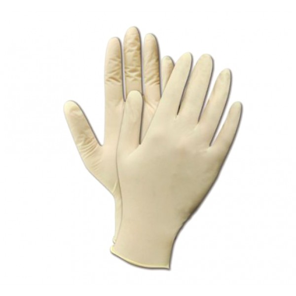 Non powdered latex gloves, medium - package of 100 disposables gloves