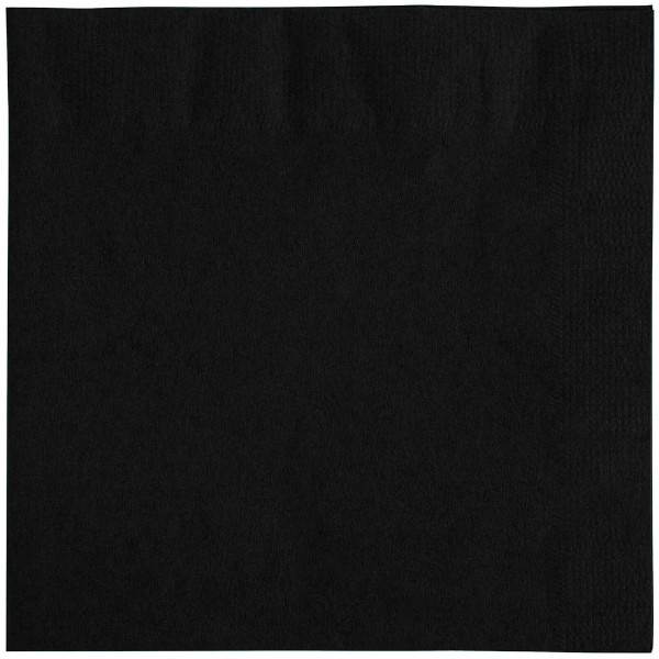 Black napkins, 2 ply, 33 cm - package of 50 napkins