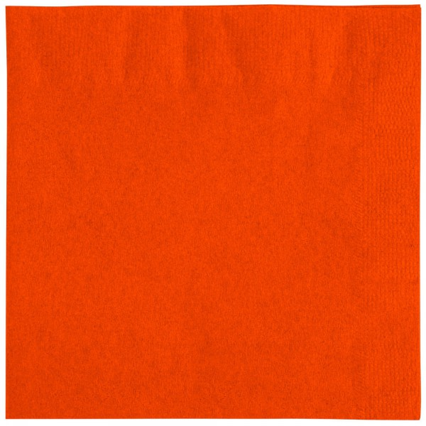 2-Ply Orange Napkins (33 x 33 cm) - pack of 100 napkins