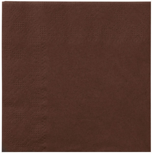 Brown napkins, 2 ply, 33 cm - package of 100 napkins
