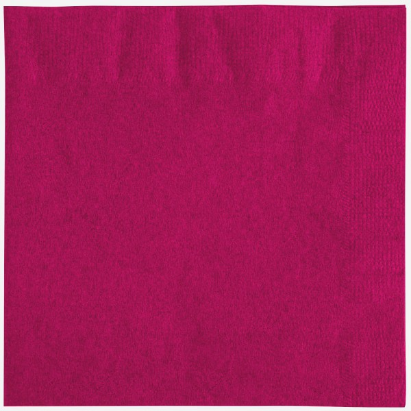 Magenta napkins, 2 ply, 33 cm - package of 100 napkins