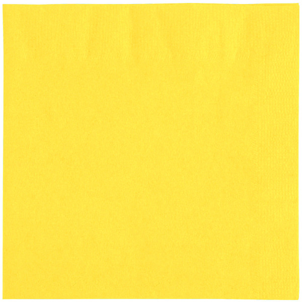 Yellow napkins, 2 ply, 33 cm - package of 100 napkins