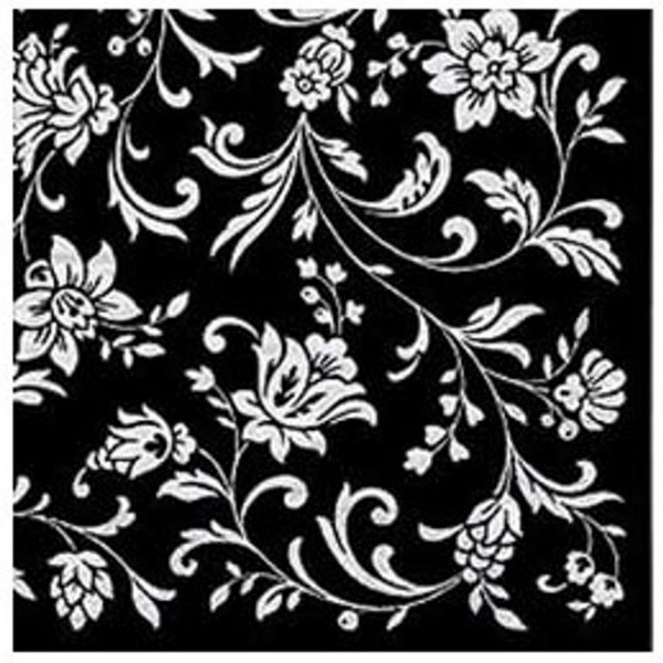 Black napkins Arabesque Black White-Black, 33 cm - package of 20 napkins