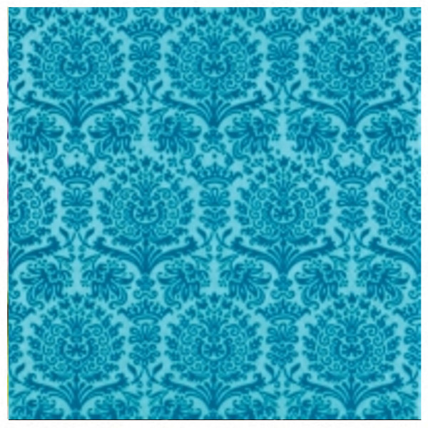 Blue napkins with damask print, 33 cm - package of 20 napkins