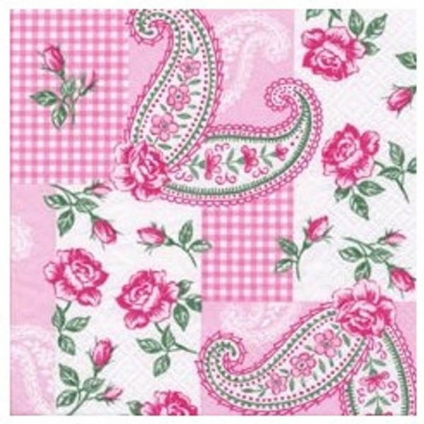 """Napkins with flower print - """"Small Rose"""", 33cm - package of 20 napkins"""
