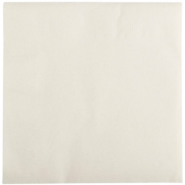White napkins, 2 ply, 33 cm - package of 100 napkins