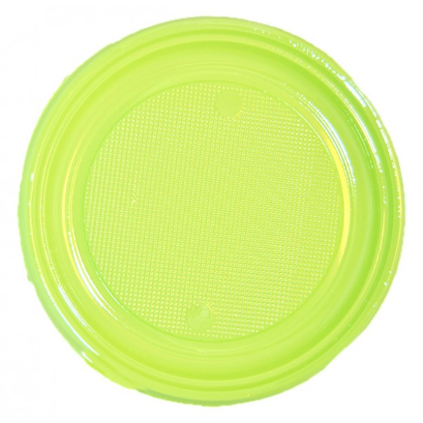 """9"""" Large Green Plastic Plate - pack of 30 plates"""