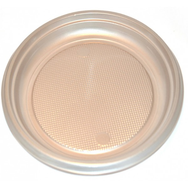 Large grey plastic plates, 9 - package of 30 plates