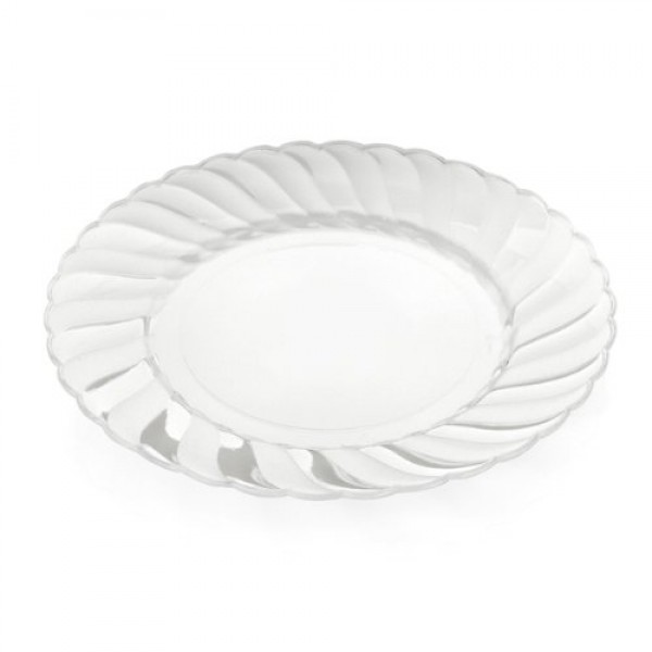 ... Large transparent plastic plates 9 - package of 18 plates ...  sc 1 st  Disposables & Buy Large transparent plastic plates 9