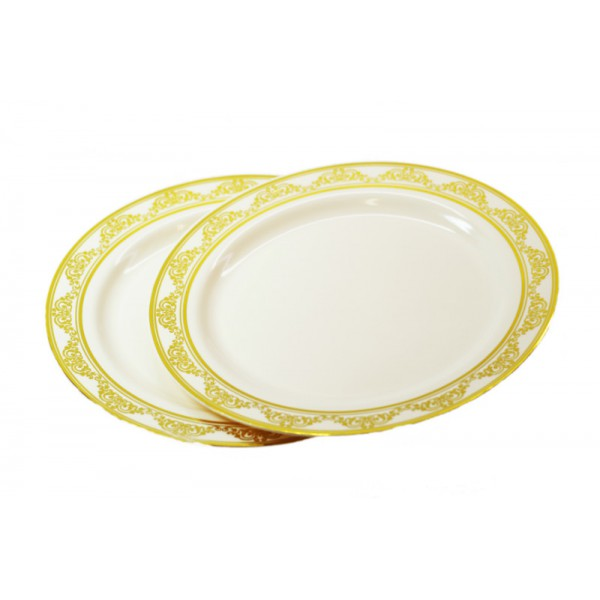 ... Gold colored plastic plates 7 - package of 10 plates ...  sc 1 st  Disposables & Buy Gold colored plastic plates 7