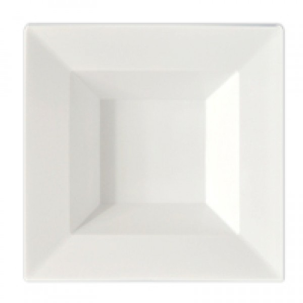 White square plastic bowls, 12 oz - package of 10 plates