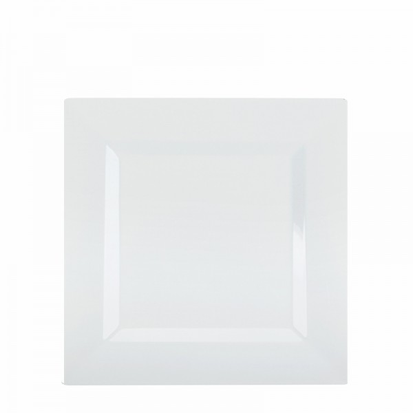 Square white plastic plates 6.5 - package of 10 plates  sc 1 st  Disposables & Buy Square white plastic plates 6.5