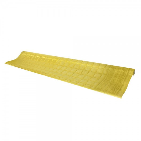 Gold colored tablecloth, 7 m - paper table cover roll