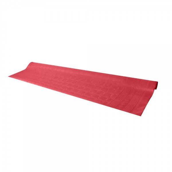 Red tablecloth, 7 m - paper table cover roll