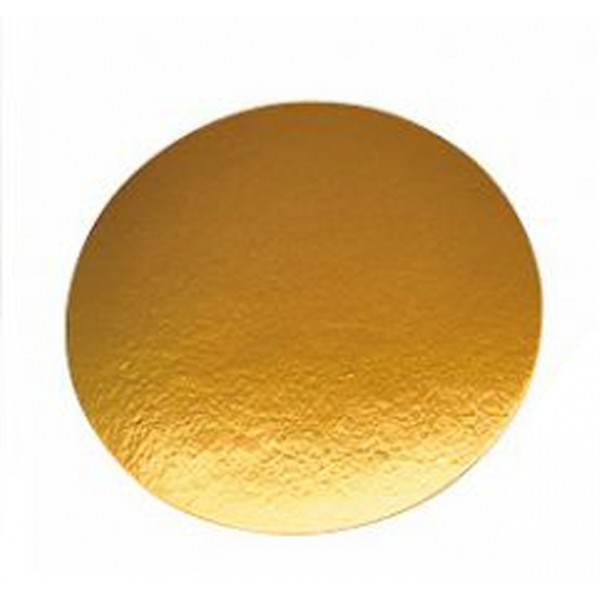 Round gold cake board, 280 mm - package of 1 cake tray