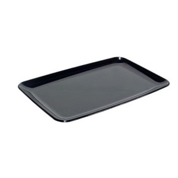Rectangular black hard plastic trays, 200 x 280 mm - pack of 20 trays