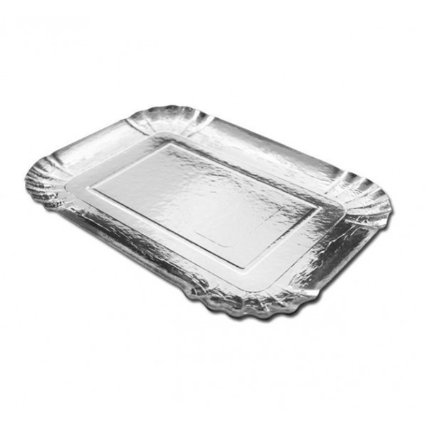 Rectangular silver platter - package of 1 tray