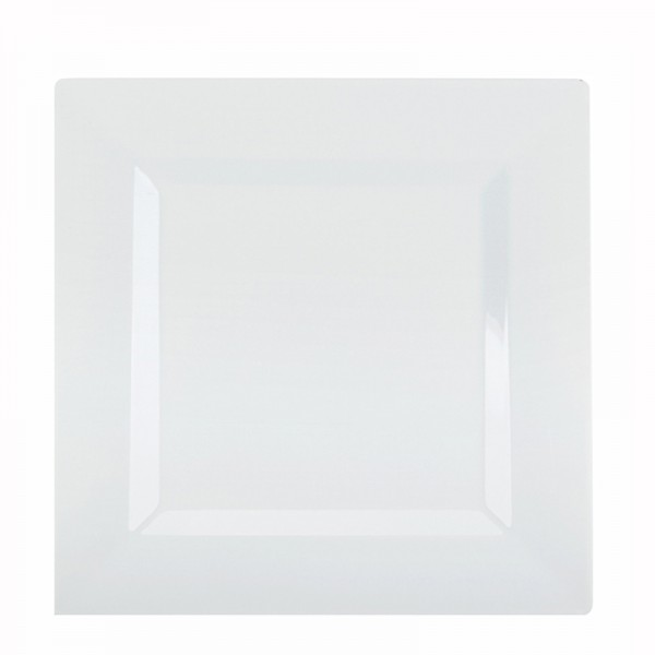 Square white plastic plates 9.5 - package of 10 plates  sc 1 st  Disposables & Buy Square white plastic plates 9.5