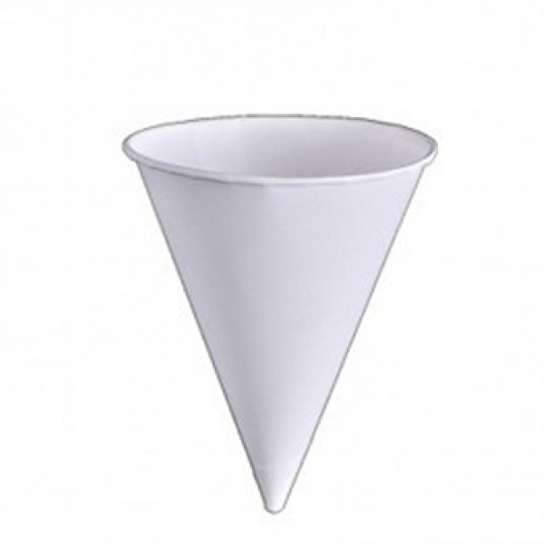 Paper cone cups, 4 oz - package of 200 cups