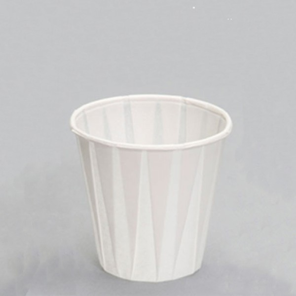 Paper pleated drinking cups, 3 oz - package of 100 cups