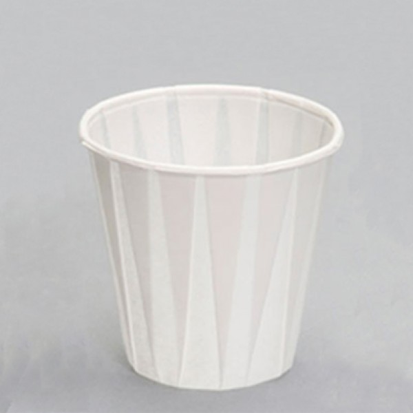 Paper pleated drinking cups, 4 oz - package of 100 cups