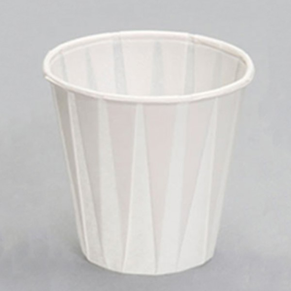 Paper pleated drinking cups, 5 oz - package of 100 cups