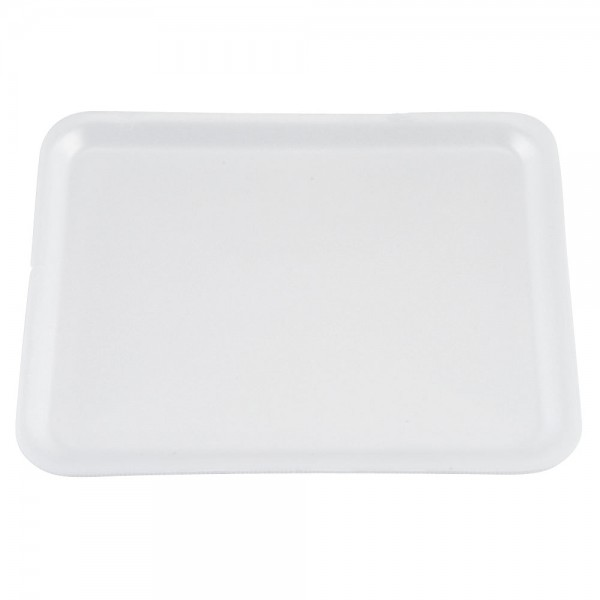 Rectangular white foam trays, 250x350 mm - package of 10 trays