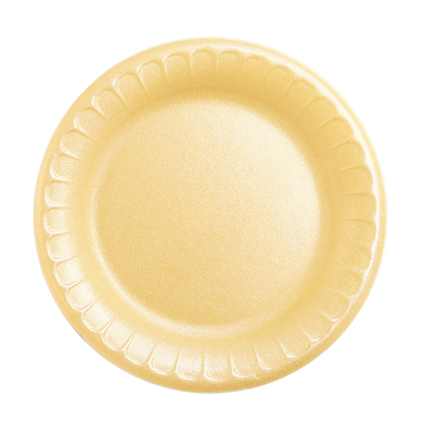 """White foam plates, 7"""" - pack of 125 plates"""