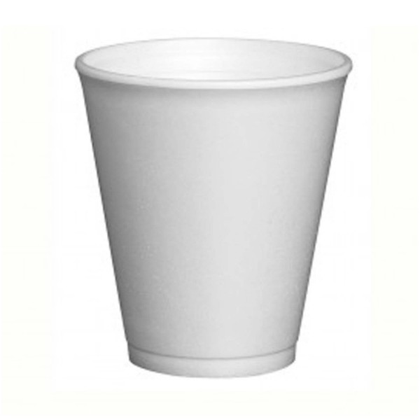 White isothermal foam cups, 10 oz - pack of 25 cups
