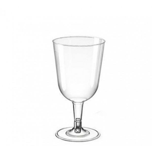 Rigid plastic wine glasses, 5 oz - package of 6 cups