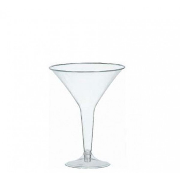 Transparent Martini cocktail glasses - pack of 10