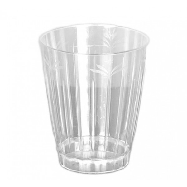 Transparent round plastic rigid cups, 10 oz - package of 16 cups