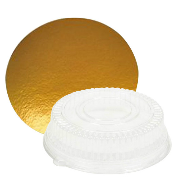 Disposable round cake board