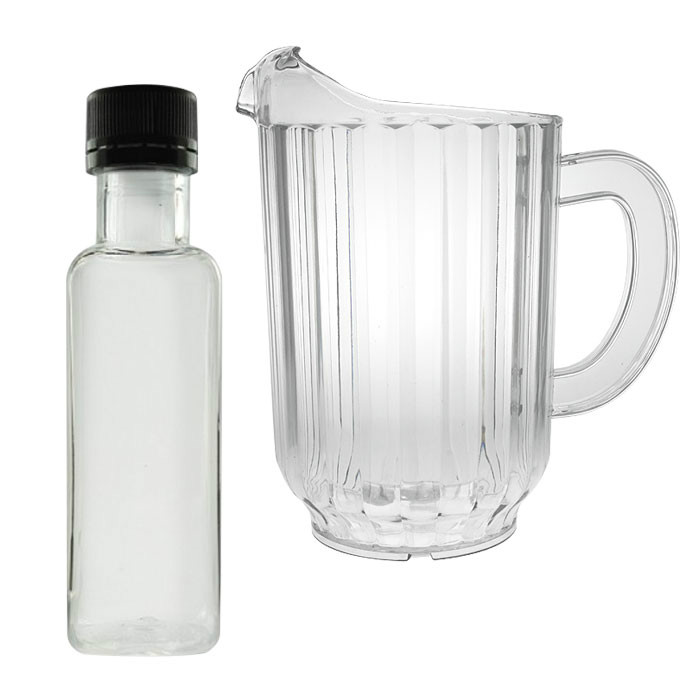 Disposable jugs, carafes and bottles