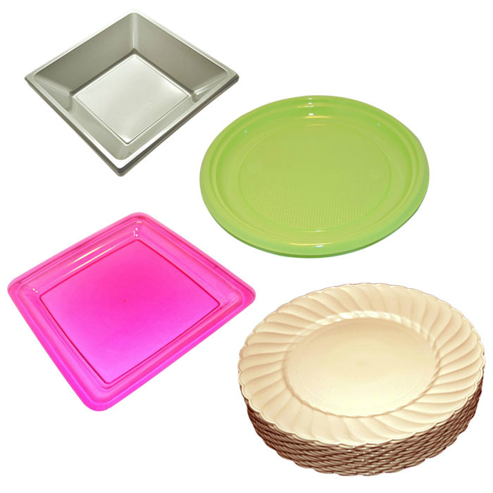 Disposable colored plates